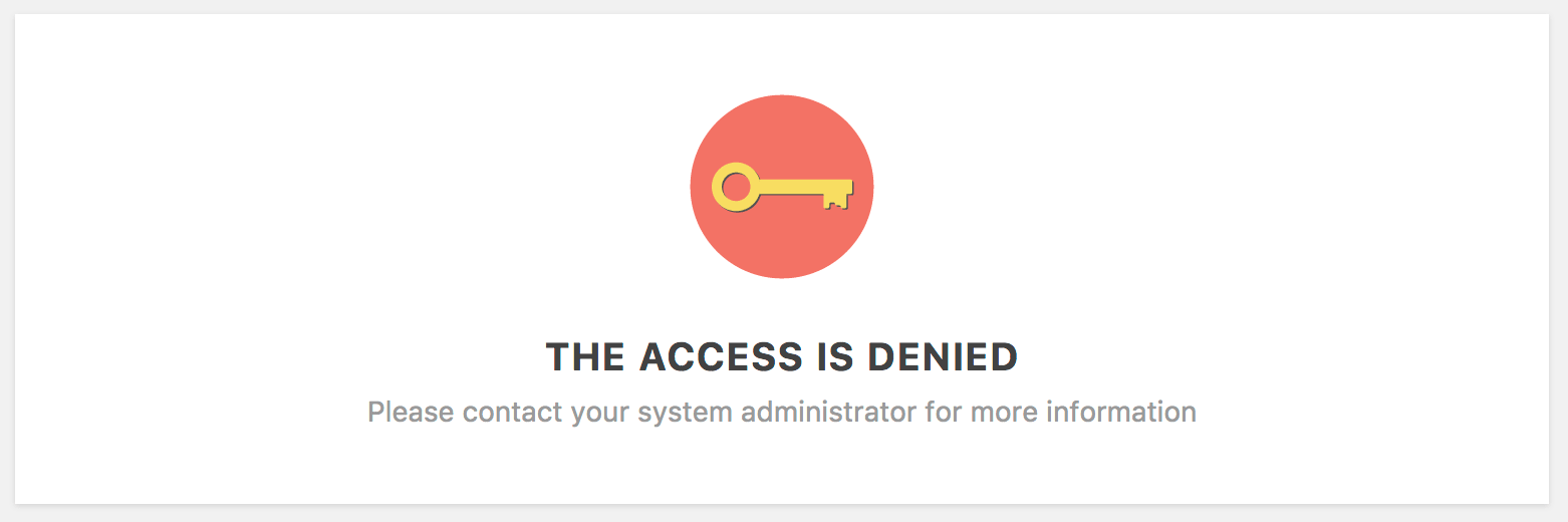 WordPress Access Denied Custom Message