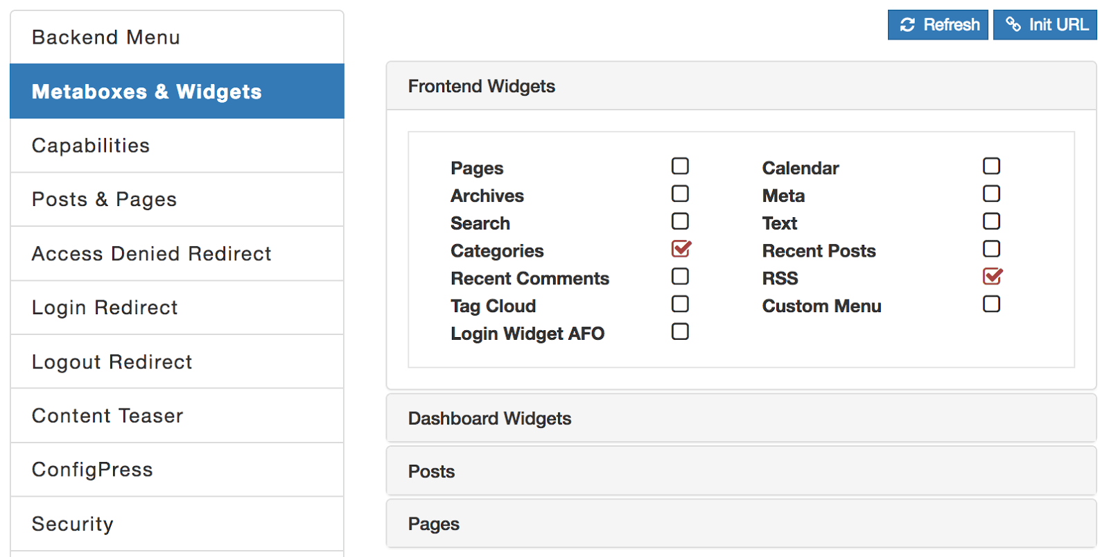 WordPress Metaboxes And Widgets