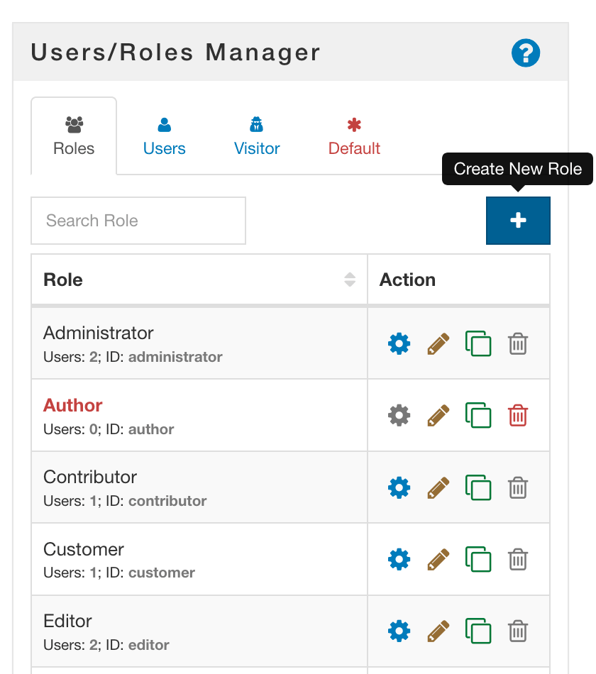 WordPress Create Role