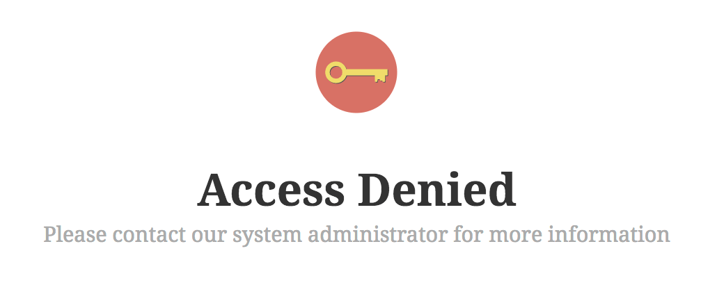 AAM Custom Access Denied