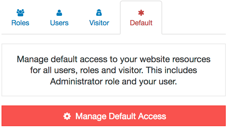 AAM Manage Default Access